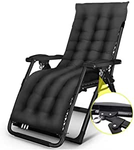 Home Outdoor/Terrace Recliner Patio Reclining Chairs for Heavy People Folding Outdoor Sun Loungers Beach Lawn Camping Portable Chair Single Siesta Bed Folding Bed, Support 440lbs Lightweight Camping