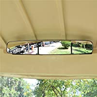 "World 9.99 Mall Rear View Mirror, 16.5"" Extra Wide 180 degree Panoramic Generic of E-Z-GO YAMAHA Rear View Mirror Black Mirror (Black)"