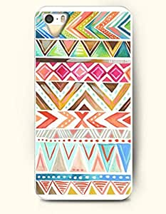 OOFIT Aztec Indian Chevron Zigzag Native American Pattern Hard Case for Apple iPhone 5 5S ( iPhone 5C Excluded ) ( Cute And Colorful Aztec Tribe Triangles )