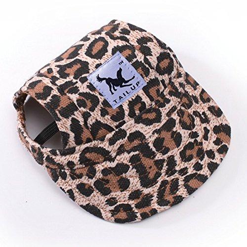 RLgoods Dog Hat Costume Outdoor Cap Pet Sunbonnet Hat for Large Medium Dog (Visor Print Dog)