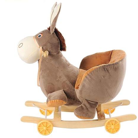 Cavallo Dondolo Giocattoli.Lvbeis Cavallo Dondolo Legno Bambini Della Peluche Cavallino