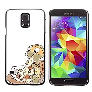 Caucho caso de Shell duro de la cubierta de accesorios de protección BY RAYDREAMMM - Samsung Galaxy S5 SM-G900 - Ninja Pizza Character Children'S