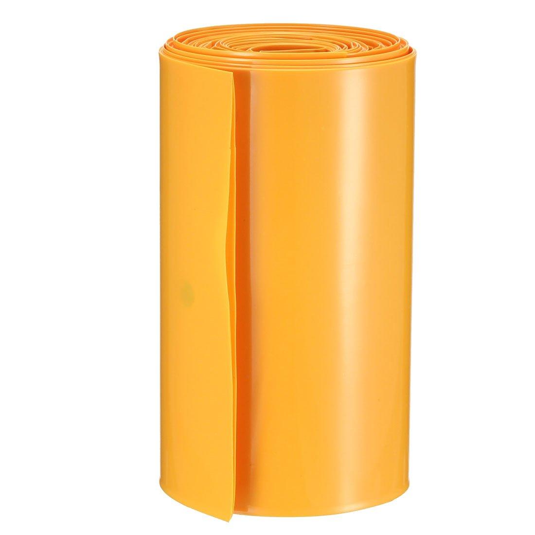 sourcing map PVC termorestringente tubo 103 mm per 2 x 18650 pellicola termoretraibile 103mm-16.4 Ft Rosso