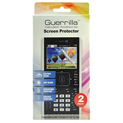 Guerrilla Military Grade Screen Protector 2-Pack For TI Nspire CX & CX CAS Graphing Calculator from BHRS Group