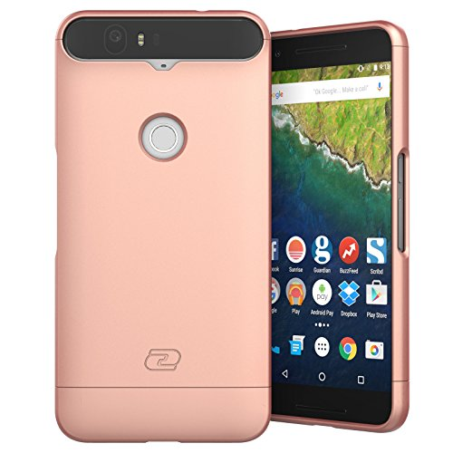 Price comparison product image Nexus 6P Case,  Encased Ultra Thin (2016 SlimShield Edition) Full Coverage,  Hybrid Tough Shell (Rose Gold)