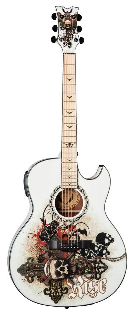 Dean Guitars 6 String Acoustic-Electric Guitar, Right Handed, Resurrection Graphic (EX RES)