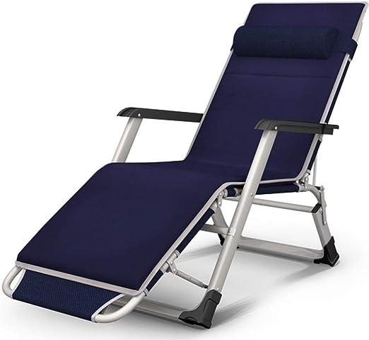 Mueble de jardín/Terraza reclinable de Gravedad Cero Sillón reclinable de Playa Plegable al Aire Libre con Cojines Soporte for portavasos 200kg Silla de Camping Liviana (Color: Azul): Amazon.es: Jardín