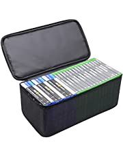 Sisma Video Games Organizer for Xbox One PS5 PS4 Game Disc, Holds Around 23 - 27 Games, Home Games Storage Bag Portable Travel Carrying Case