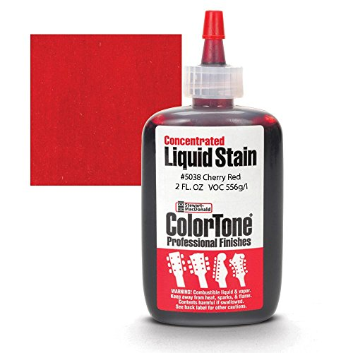 (ColorTone Liquid Stain for Stringed Instruments, Cherry Red)