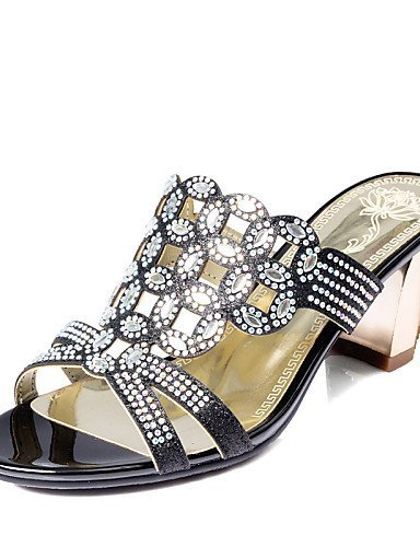 Sandals available Black Colors Toe ShangYi More Women's Open Shoes Heel Chunky CUYRqw