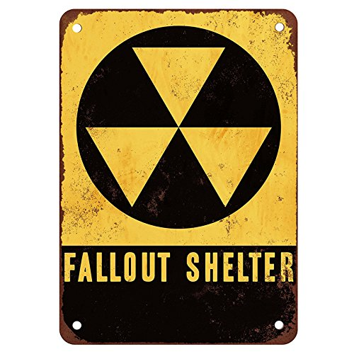 FunnyToday365 Fallout Shelter Vintage Tin Signs Retro Metal Plate The Wall Decoration For Home Shop Bar ()