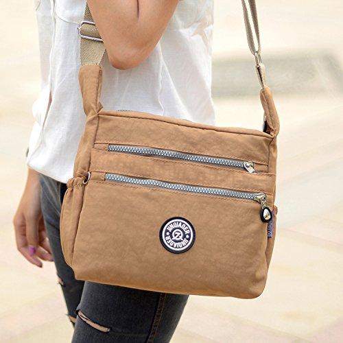 Crossbody Casual Waterproof Bag for Ladies Sport Bag Bag Designer Messenger Shoulder Side Travel Pack Body Beige Satchel Women Outreo Cross Bag vqUvd