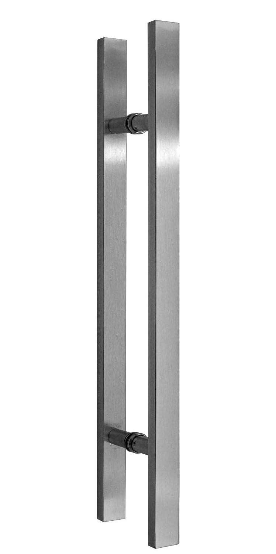 Siebdruck; Alu Schienensystem SlimLine SoftStop; Griffstange eckig 420 Schiebet/ürsystem ESG 1025x2050x8mm P1 BP1-1025-420GR-AS
