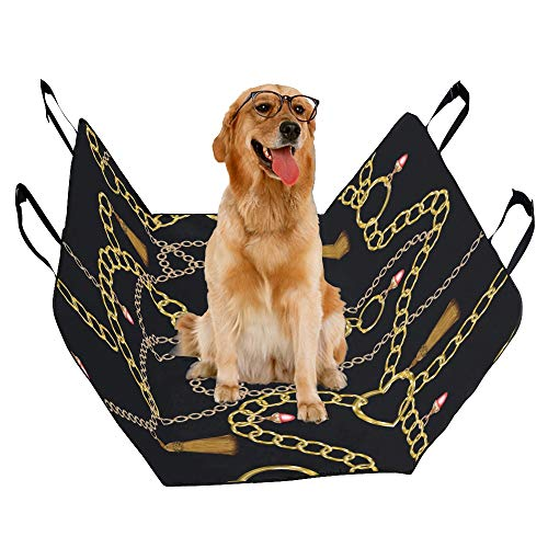 JTMOVING Fashion Oxford Pet Car Seat Earrings Jewelry Fashion Items Match Waterproof Nonslip Canine Pet Dog Bed Hammock Convertible for Cars Trucks SUV