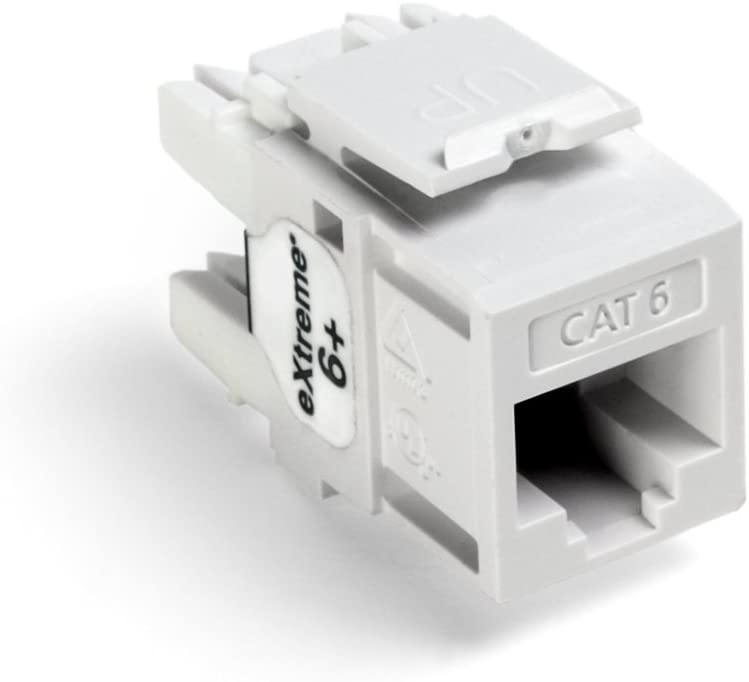 Ivory Jack LEVITON Voice Grade QuickPort Connector Box of 50 6-Pos 6-Cond