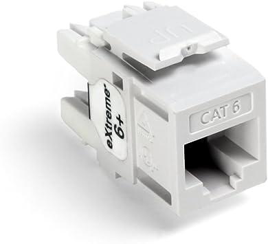 Amazon.com: Leviton 61110-RW6 Extreme 6+ QuickPort Connector, CAT 6, White:  Home ImprovementAmazon.com