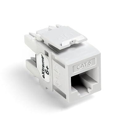 Astonishing Amazon Com Leviton 61110 Rw6 8 Wire Cat6 Jack 1 Pack White Home Wiring Digital Resources Bemuashebarightsorg