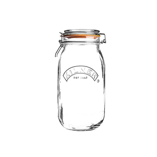 Kilner 0025.492 Round Clip Top Jar, Glass, Transparent