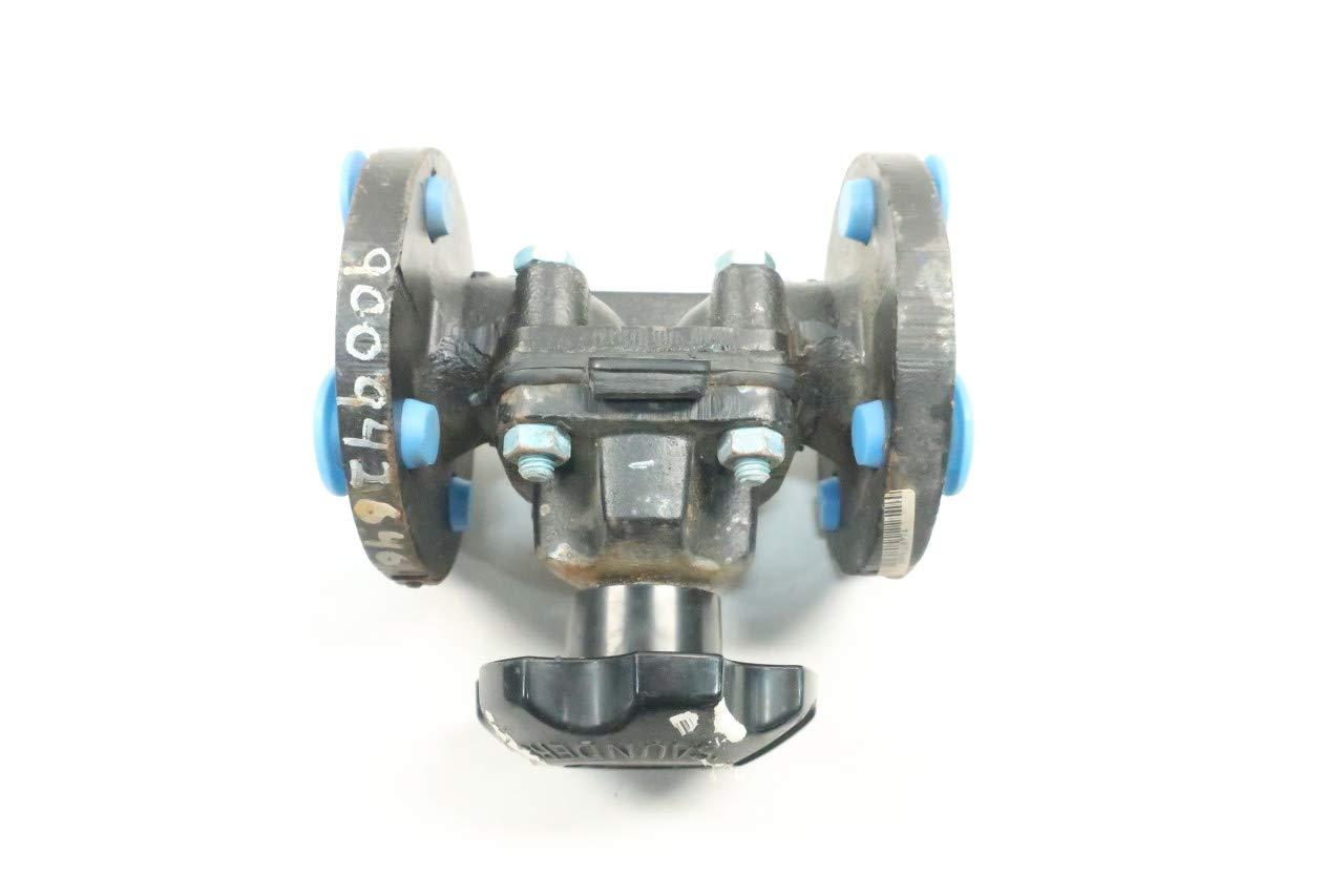 SAUNDERS IIR-Butyl Manual Steel FLANGED 1IN Diaphragm Valve D634386