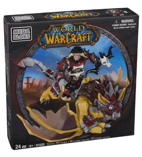 Buildable Berry (Mega Bloks World of Warcraft Swift Wyvern and Scarbuck (Horde Tauren Hunter))