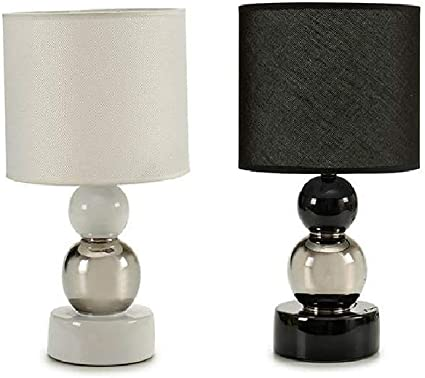takestop® lámpara lámparas Tejido diseño Metal PAR 2 Piezas E27 ...