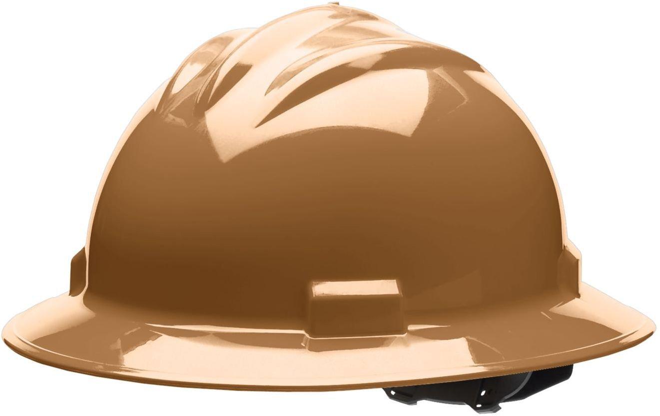 Bullard 71tnv estándar serie completa Brim Hat, 4 punto Pin Lock Suspensión, vinilo Cejas Pad, Marrón, un tamaño: Amazon.es: Amazon.es