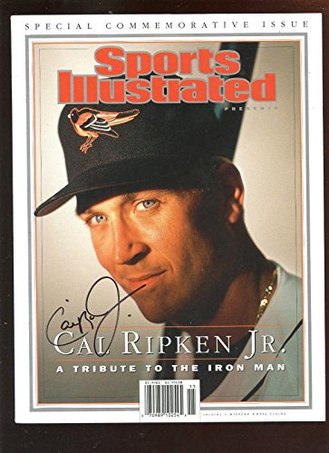 October 3 2001 Sports Illustrated Auto Cal Ripken Jr. No Mailing Label Hologram - Autographed MLB Magazines