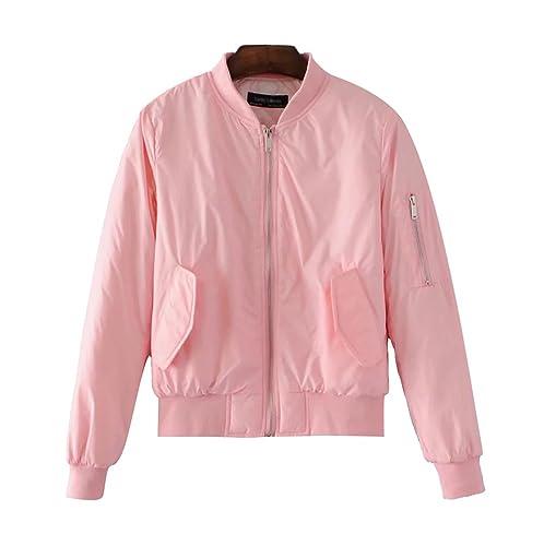 ZKOO Chaqueta Bomber Mujeres Corta Piloto Jacket Algodón Acolchado Cazadora Chaquetas Casual Otoño e...