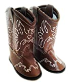 BROWN LEATHER WESTERN COWGIRL BOOTS WITH TASSELS FOR AMERICAN GIRL DOLLS