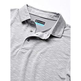 PGA TOUR Men's Slub Short Sleeve Golf Polo Shirt