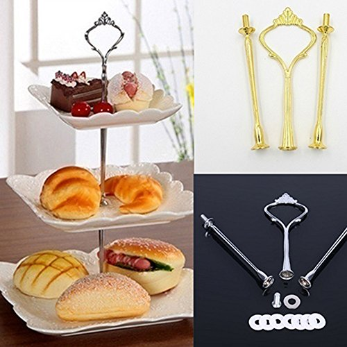 3 Tier Hardware Crown Cake Plate Stand Cupcake Dessert Display Stand Handle for Wedding Party Table Decor (Gold) by Baost (Image #5)