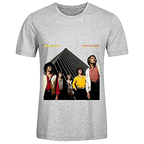 Air Supply Lost In Love Hits Mens Crew Neck Design T Shirt Grey (Hers And His Crewneck)