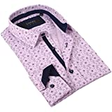 Coogi Luxe 100% Cotton Men's Tailored Fit Patternd Print Dress Shirt (Multiple Sizes / Colors)