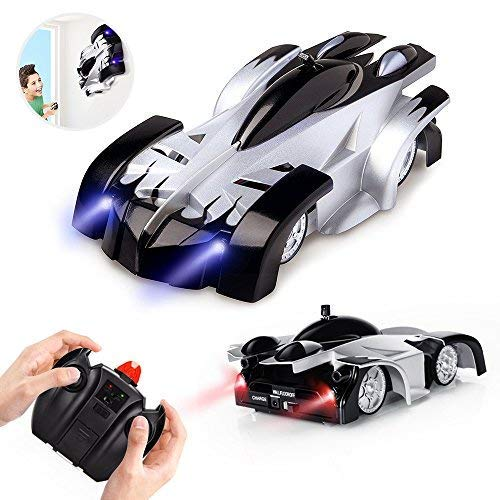 Wall Climber (Epoch Air Rc Cars for Kids Remote Control Car Toys Wall Climbing Dual Mode 360°Rotating Stunt Rechargeable High Speed Vehicle with LED Lights Xmas Gift for Boys Girls Age of 3,4,5,6,7,8-16 Year Old)