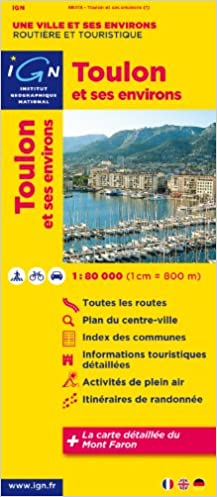 Toulon & Surroundings 1:80K IGN (English, French and German Edition ...