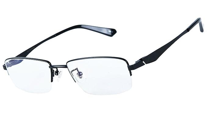 15ab0090ce7 Agstum 100% Titanium Half Rimless Glasses Frame Optical Eyeglasses  53-18-140 (