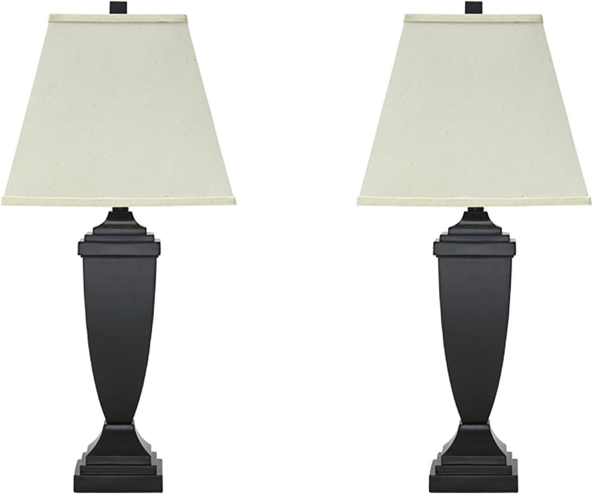 Amazon Com Signature Design By Ashley Amerigin Table Lamps Set Of 2 Elegant Style Bronze Finish Home Improvement