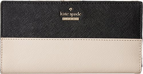 Kate Spade New York Women's Cameron Street Stacy Wallet, Tusk/Black, One Size by Kate Spade New York