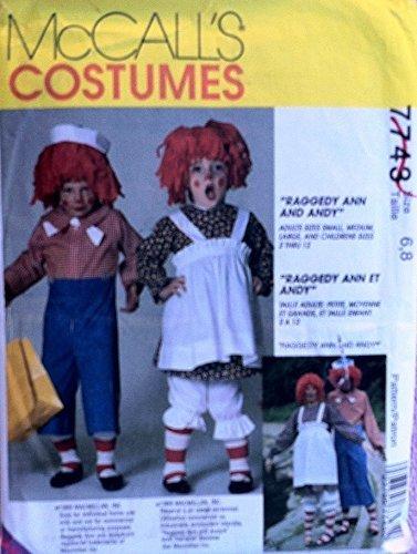 McCall's Raggedy Ann & Andy Costumes Pattern #7743 - Raggedy Ann Costume Pattern