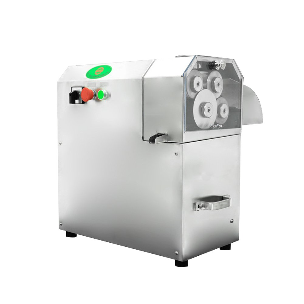 4 Rollers Sugarcane Juice Extractor Electric Portable Sugar Cane Juicer Commercial Stainless Steel Cane Grind Press Machine 110V