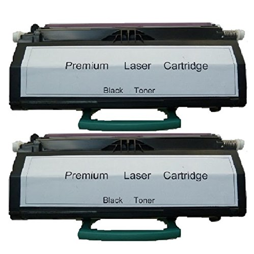 2-Pack Lexmark E260 (E260A11A) 3.5K Black Compatible Toner Cartridge For Lexmark E260D, E260DN, E460dtn, E360dtn, E360DN, E460DN, E360D, E462dtn, E460DW, E260dt, E260dtn By Tonerdeal