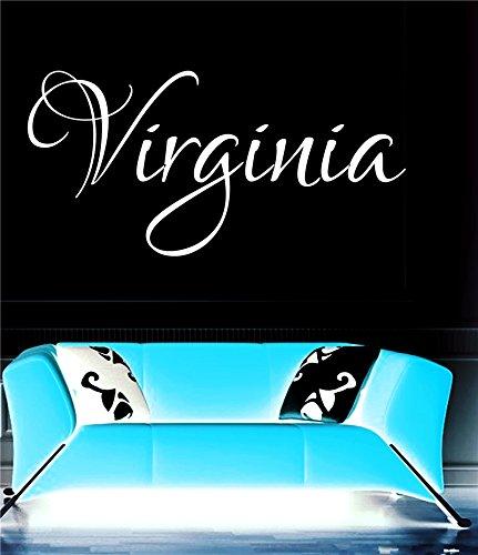 Virginia女の子名前またはBoy名前部屋名前壁引用アートビニールデカールステッカー   B017PE8ZV4