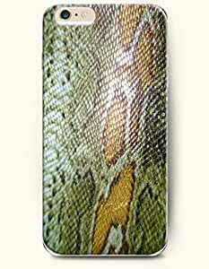 Apple iPhone 6 Case ( 4.7 inches) with Design of Spring Green And Yellow Fresh Serpentine Grain - Snake Skin Print -OOFIT Authentic iPhone Skin wangjiang maoyi