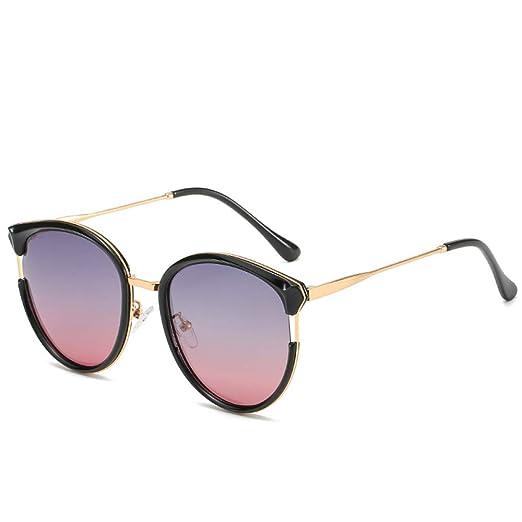 Yangjing-hl Gafas de Sol Redondas polarizadas Gafas de Sol ...