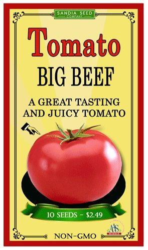 Big Beef Hybrid Tomato 10 Seeds - non GMO A Great Tasting and Juicy Tomato