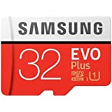 SAMSUNG 32GB EVO Plus MicroSDHC w/Adapter (2017 Model)