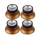 BQLZR 2 Volume 2 Tone Bell Top Hat Speed Knob For Electric Guitar