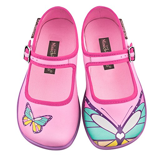 Hot Chocolate Design Mini Chocolaticas Butterfly Girls Mary Jane Flat Multicoloured HCD 33 by Hot Chocolate Design
