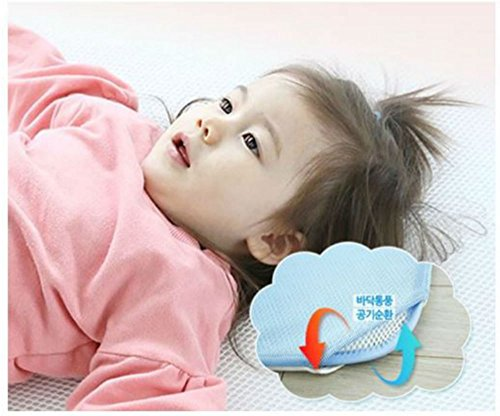 GIO Pillow Kid's Playard Cushion Mattress Large Blue by GIO Clavis
