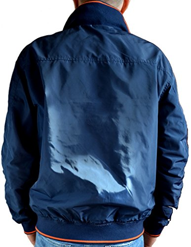 Giacca Giubbotto Bomber Reversibile Uomo La Martina Jacket Men Reversible Navy/Orange